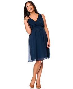 Motherhood Maternity Sleeveless Empire Dress - Maternity - Women - Macy s  Navy Bridesmaid Dresses bcaeb0ccf64c