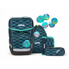 ergobag cubo Schulrucksack-Set 5 Teilig BlubbBaer Lunch Box, Backpacks, Bags, School, Handbags, Dime Bags, Women's Backpack, Lv Bags, Purses