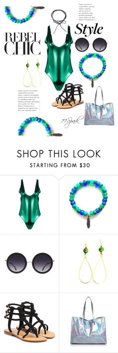 """Styled To Swim"" by shop77spark ❤ liked on Polyvore featuring Boohoo, Alice + Olivia, Mystique and Nasty Gal"