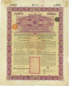 Chinese Imperial Government / Kaiserlich Chinesische Staatsanleihe (Kuhlmann 86)