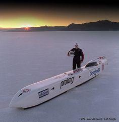 Dempsey World Record Associates' electric streamliner, the White Lightning