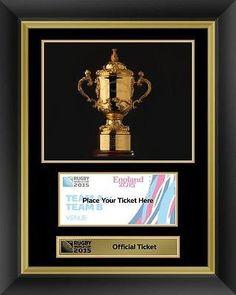 Rugby World Cup 2015 Official Ticket Display Photo Frame Webb Ellis Trophy RWC