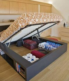 Studio living--storage under the bed to a whole new organizational level