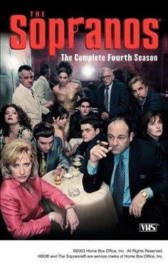 """The Sopranos: Series 4 created by David Chase, starring James Gandolfini, Lorraine Bracco and Edie Falco. """"Modern day morality tale about New Jersey mob boss Tony Soprano, as he deals with personal and professional issues in his home and business life. Os Sopranos, Kung Fury, Tony Soprano, Moon Knight, Jessica Jones, Breaking Bad, Grey's Anatomy, Movies Showing, The Boondock Saints"""