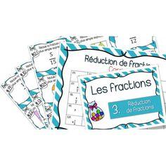 Réduction de fractions - Cartes à Tâches
