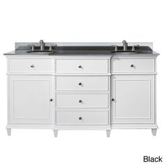 Avanity Windsor 60-inch Double Vanity in White Finish with Dual Sinks and Top - Free Shipping Today - Overstock.com - 15727309 - Mobile