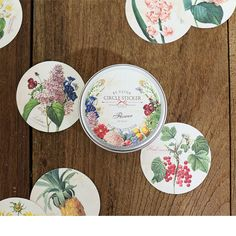 Наклейки декоративные Flower, набор 48 шт.