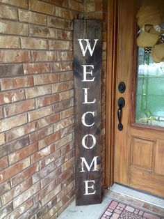 WELCOME SIGN RUSTIC Wood welcome sign front door welcome sign rustic welcome sign & This Rustic Welcome Sign will add charm to your front porch!! My ... Pezcame.Com