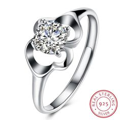 Gnzoe Fashion Jewelry Silver Plated Women Finger Rings Elegant Double Personality Leaf Wedding Band Purple CZ Zircon