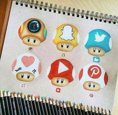 Champignon réseau sociaux