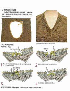 """Photo from album """"Mezgimo pamokos"""" on Yandex. Knitting Basics, Knitting Stiches, Knitting Charts, Knitting For Beginners, Knitting Patterns Free, Knit Patterns, Knitting Projects, Crochet Stitches, Hand Knitting"""
