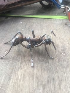 Scrap Metal Ant Insect Sculpture Common by GreenHandSculpture