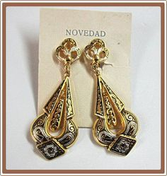 Damascene Dangle Earrings Toledo Spain