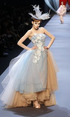 Christian Dior spring/summer 2011 Haute Couture collection at Paris Fashion Week.