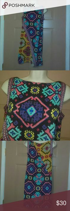 """RACHEL ROY DRESS-SIZE XS-NWOT -Rachel Roy Dress -Size XS -Never Worn -Sleeveless -Very colorful material with cool designs -Armpit to armpit measures 16"""", straight across -Shoulder to bottom hem measures 33"""" -100% Polyester -Very Cute Dress RACHEL Rachel Roy Dresses"""