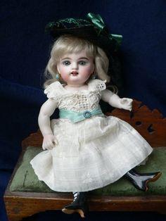 """Antique Kestner102 All Bisque Wrestler Doll Large 8 1/2"""" No Damage NICE"""