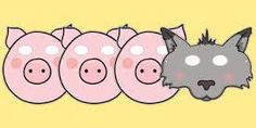 A set of character masks to accompany teaching of The Three Little Pigs. It contains four colorful masks of the three little pigs and the big bad wolf. Book Costumes, Fairy Tale Costumes, Book Character Costumes, Three Little Pigs Story, Pig Mask, Dear Zoo, Story Sack, Traditional Tales, Goldilocks And The Three Bears