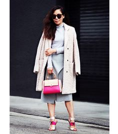 Bag, shoes, and the coat