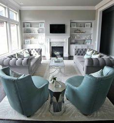 38 The Best Relaxing Living Room Design Ideas - living room furniture layout Elegant Living Room, Living Room Grey, Formal Living Rooms, Home Living Room, Apartment Living, Living Room Designs, Rustic Apartment, Cozy Living, Living Room Furniture Layout