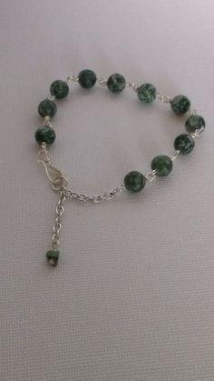 Bracelet Genuine China Jade with .935 Silver findings #La3DesignsHandmade