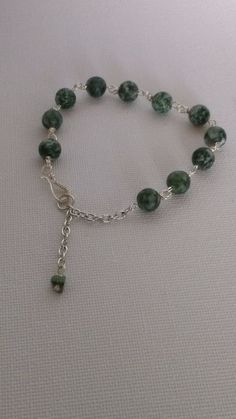 Bracelet Genuine China Jade with .935 Silver findings #La3DesignsHandmade