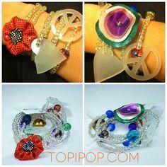 Las pulseras @Ushuva para todos tienen detalles con mateial reciclado! Cómpralas online http://Topipop.com/disenador/ushuva