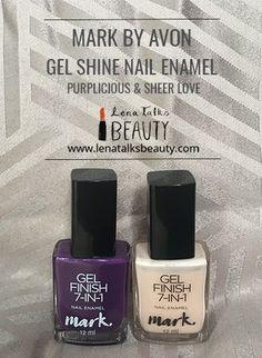 Mark Gel Shine Nail Enamel - new from Avon - Lena Talks Gel Nails, Nail Polish, Avon, Perfume Bottles, Enamel, Posts, Beauty, Gel Nail, Vitreous Enamel