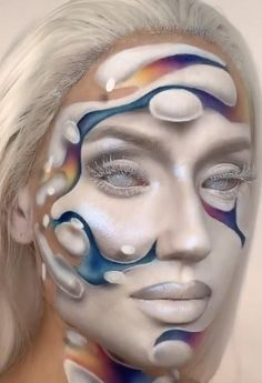 Diy Face Paint, Face Paint Makeup, Makeup Trends, Makeup Inspo, Makeup Inspiration, Creepy Makeup, Cute Makeup, Kids Makeup, Makeup Stuff