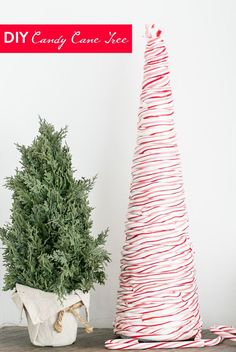 DIY Candy Cane Tree - Sugar and Charm - sweet recipes - entertaining tips - lifestyle inspiration