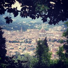 View of Firenze from Fiesole ~ Ciao Christy