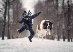 These kids and their big dogs will thaw your cold heart - Tiere - Hund Dogs And Kids, Big Dogs, Animals For Kids, Animals And Pets, Baby Animals, Cute Dogs, Dogs And Puppies, Funny Animals, Cute Animals