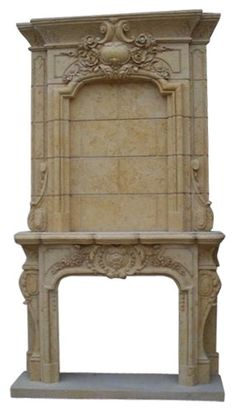 Hand carved marble Victorian fireplace mantel