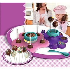 AMAV Cake Pops Maker Toy Activity Set Using Microwave Baking - DIY Make Your Own Delicious Treat - Edible Sweet Art ** Click image for more details. (This is an affiliate link and I receive a commission for the sales) Baby Dolls For Kids, Toys For Girls, Kids Toys, Craft Kits For Kids, Diy For Kids, Crafts For Kids, All Monster High Dolls, 10 Year Old Gifts, Frozen Cupcake Toppers