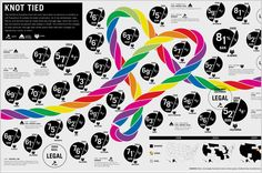 interesting info graphic design - i like the use of a repeating segmentation graphic with the fluid rope motif