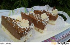 Nepečené čokoládové řezy s tvarohem