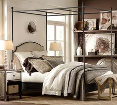 Linen with Silk Trim Duvet Cover & Sham | Pottery Barn - Love the Mix and Match Bedding