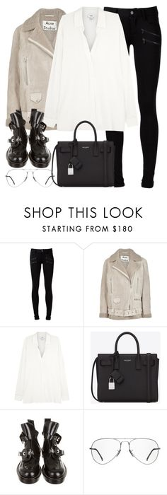 """""""Untitled #3167"""" by elenaday ❤ liked on Polyvore featuring Paige Denim, Acne Studios, Vince, Yves Saint Laurent, Balenciaga and Ray-Ban"""