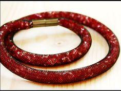 Korálkový náhrdelník z modistické dutinky ( beaded necklace) DiY - YouTube