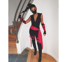 40 Trendy Party Outfit College Halloween Costumes - Real Time - Diet, Exercise, Fitness, Finance You for Healthy articles ideas Ninja Halloween Costume, Halloween Costumes Women Scary, Halloween Outfits, Costumes For Women, Halloween Night, Halloween Gifts, Pirate Costumes, Sexy Ninja Costume, Woman Costumes
