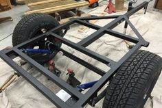 Our welded frames are the perfect base for any DIY Compact Camping trailer such as Explorer Boxes, Dinoots or your own creation. We use a removable tongue design for customer flexibility in length and