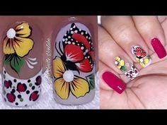 Manicure, Nails, Nail Designs, Nail Art, Animal, Color Plata, Diana, Youtube, Easy Nails