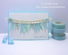 マスキングテープで3月の誕生石「アクアマリン」をイメージ! | CardNation~手作りカードで繋ぐ「心」