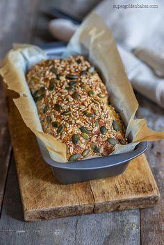 Super easy low-carb bread Low-carb Dukan bread Makes 1 small loaf Dukan Diet Recipes, No Carb Recipes, Cooking Recipes, Healthy Recipes, Low Gi Bread, No Bread Diet, Easy Bread, Dukan Diet Attack Phase, Flourless Bread
