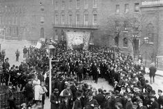 Poplar 1890s  Image Number:  #IHT/ss177  Copyright:  © THLHLA  Keywords:  Island History Trust Image Collection  Description:  A Trade Union Gathering in Poplar, c1890. by Mrs Murphy