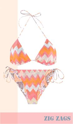 zig-zag bikini in my favorite colors...melon and oranges