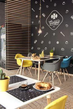 Café Flora | interior design project | coffee shop | vives ceramica | floor tiles | strand ceramic wood #coffeeshopinteriors