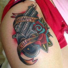 Derringer Gun Tattoo