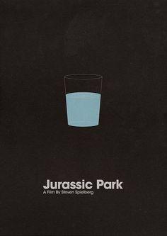 Jurassic Park minimalistic poster