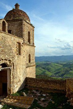 Craco, Italy. Abandoned comune and medieval village. Matera Basilicata