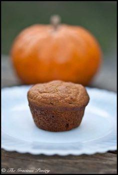 Clean Eating Pumpkin Spice Mini Muffins  www.TheGraciousPantry.com